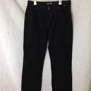 Lee Riders Indigo Woman's Black Jeans 18 M